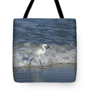 Snowy At The Beach Tote Bag