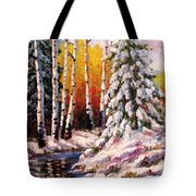 Snowy Banks Tote Bag