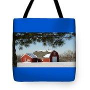 Snowy Barn-0087 Tote Bag