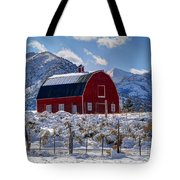 Snowy Barn In The Mountains - Utah Tote Bag
