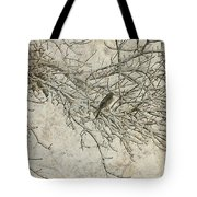 Snowy Bird Tote Bag