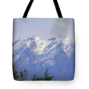 Snowy Blue Mountains Tote Bag