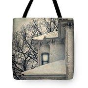 Snowy Brick House Tote Bag