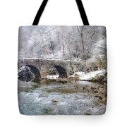 Snowy Bridge Along The Wissahickon Tote Bag