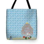 Snowy Christmas Tote Bag