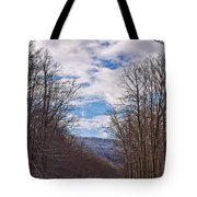 Snowy Country Road Tote Bag