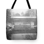 Snowy Crossing Tote Bag by Luke Moore
