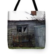 Snowy Day At The Old House Tote Bag