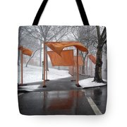 Snowy Day In Central Park Tote Bag