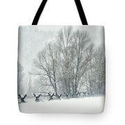 Snowy Day In The Tetons Tote Bag