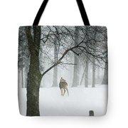 Snowy Deer Tote Bag