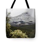 Snowy Desert Mountain 1 Tote Bag
