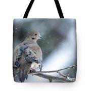 Snowy Dove Tote Bag
