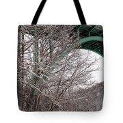 Snowy Drive Tote Bag