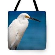 Snowy Egret Takin' Five Tote Bag