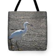 Snowy Egret Walk Tote Bag