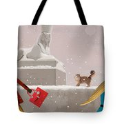 Snowy Evening In The City Tote Bag