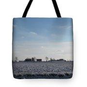 Snowy Farmfield Tote Bag