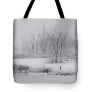Snowy Fields Tote Bag