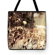 Snowy Flowes And Layers Tote Bag