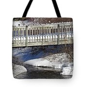 Snowy Foot Bridge Tote Bag