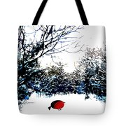 Snowy Forest At Christmas Time Tote Bag