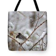 Snowy Grace Cardinals Tote Bag