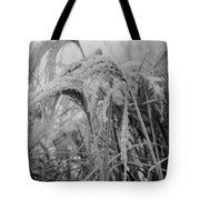 Snowy Grass Tote Bag