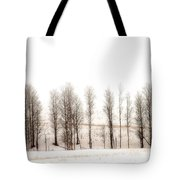 Snowy Hill Tote Bag