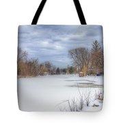 Snowy Lake Tote Bag