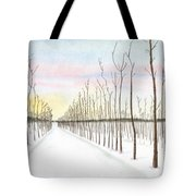 Snowy Lane Tote Bag by Arlene Crafton