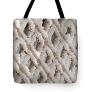 Snowy Lattice Vertical Tote Bag