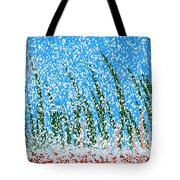 Snowy Lawn On A Sunny Day Tote Bag