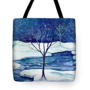 Snowy Moment Tote Bag
