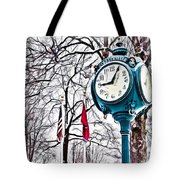 Snowy Morning - Oil Tote Bag