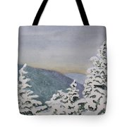 Snowy Mountains Of Nek Tote Bag
