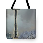 Snowy Needle Tote Bag