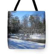 Snowy Otter Brook Tote Bag