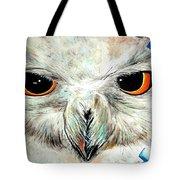Snowy Owl - Female - Close Up Tote Bag by Daniel Janda