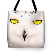 Artic Snowy Owl Painting Tote Bag