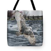 Snowy Owl Wingspan Tote Bag