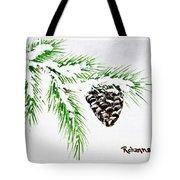 Snowy Pine Tote Bag