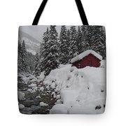 Wyoming Snowy Retreat Tote Bag