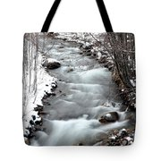 Snowy River At Mt. Hood Tote Bag
