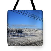 Snowy Roads Tote Bag by Michael Mooney