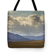 Snowy Rocky Mountains County View Tote Bag