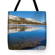 Snowy Shoreline Tote Bag
