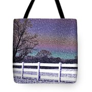 Snowy Snowy Night  Tote Bag