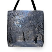 Snowy Trail Tote Bag