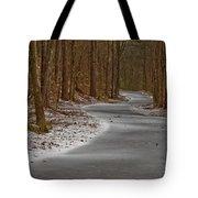 Snowy Trails Tote Bag